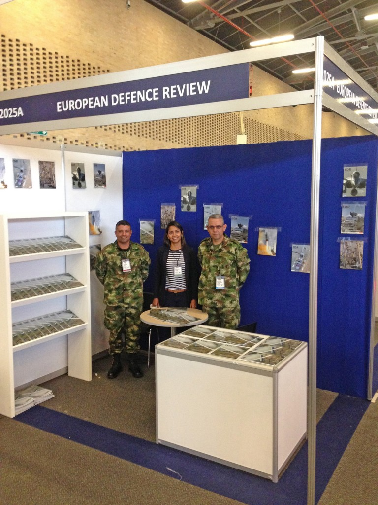 EDR for the very first time attended Expodefensa in Bogota from November 30 to December 2, 2015. This well organised Colombian defence show is now becoming very international, with participations hailing from the USA, China, Israel, Europe, Brazil, Canada… In fact, only Russia made a no-show, based on purely economic reasons. (J.-M. Guhl)