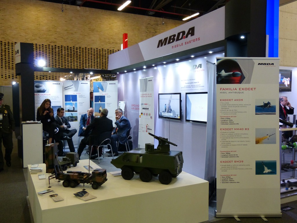 MBDA displayed its range of land and sea-based air defence systems. (David Oliver)