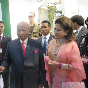 The King of Malaysia during his visit to DSA 2016. (Joseph Roukoz)