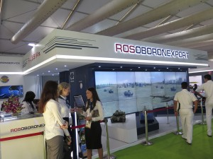 The Rosoborornexport booth in DEFEXPO 2016