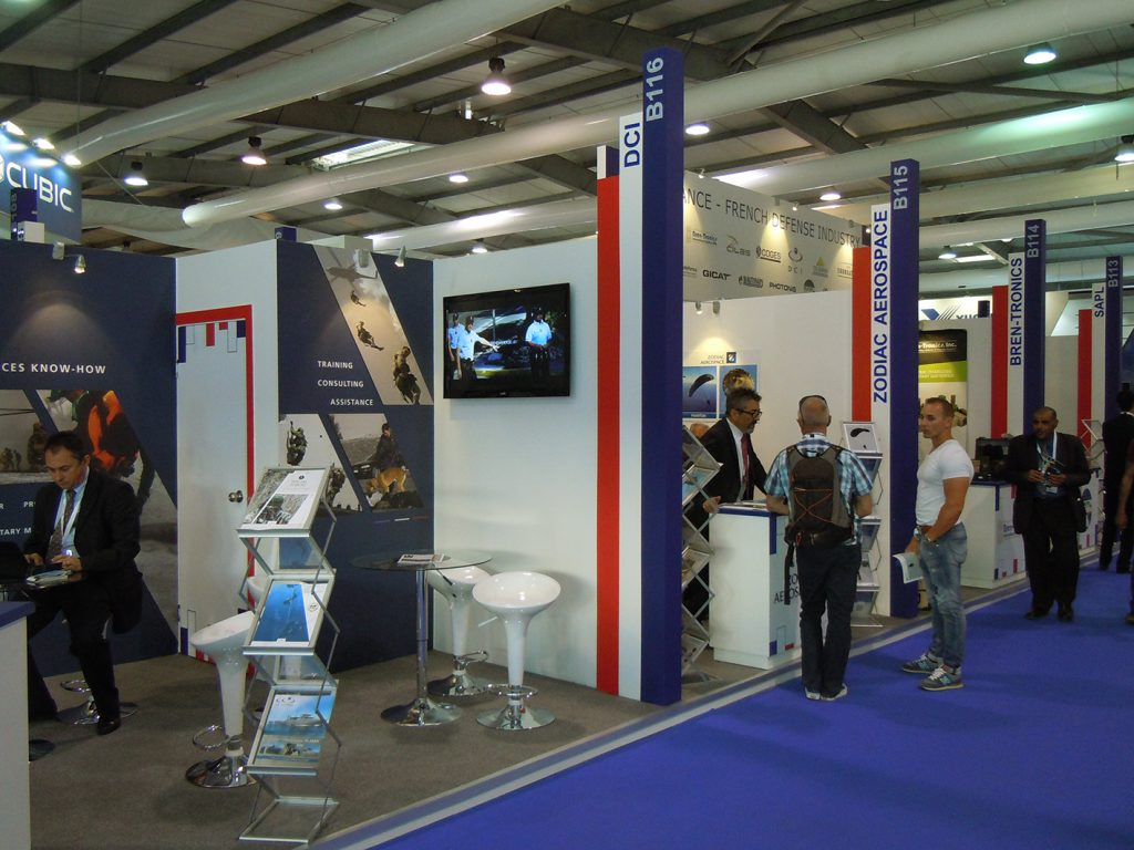 The French pavilion at SOFEX 2016.