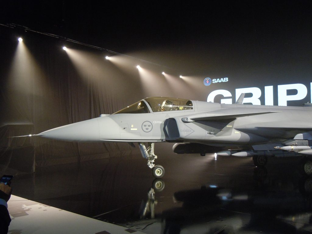 The Saab's Gripen E multi role fighter aircraft will enter service with the Swedish Air Force in 2023. (David Oliver)