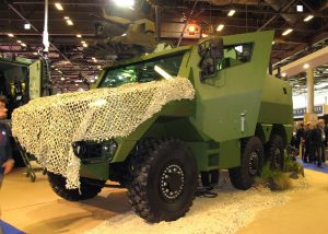 The Griffon mock-up at the French Army stand; to see the real vehicle, let's meet at Eurosatory 2018. (P. Valpolini)