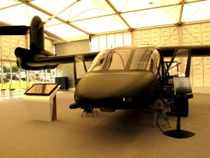 The mock-up of the V-28 Valor seen at Farnborough. The first flight is expected in September 2017. (P. Valpolini)