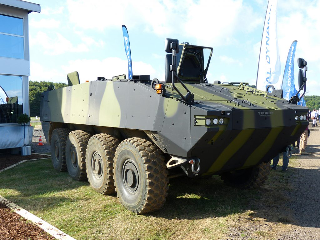 GDUK and Mowag have developed the Piranha 5 AFV as a MIV contender.