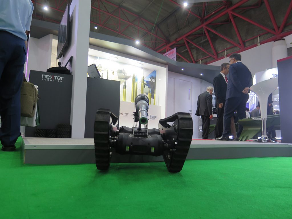 NERVA, a family of mini surveillance and reconnaissance robots.