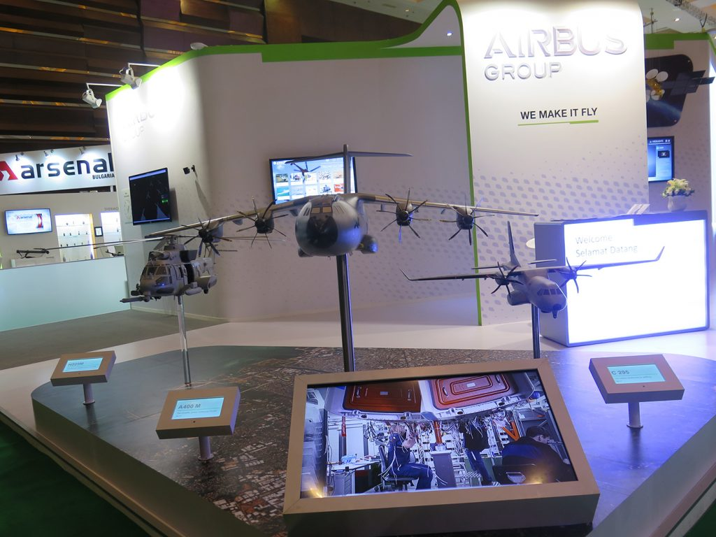 The Airbus booth in Indo Defence.