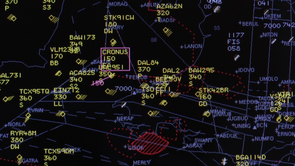 Screen capture of Watchkeeper (call sign CRONUS 15  0) from the Air traffic Control Screens � NATS
