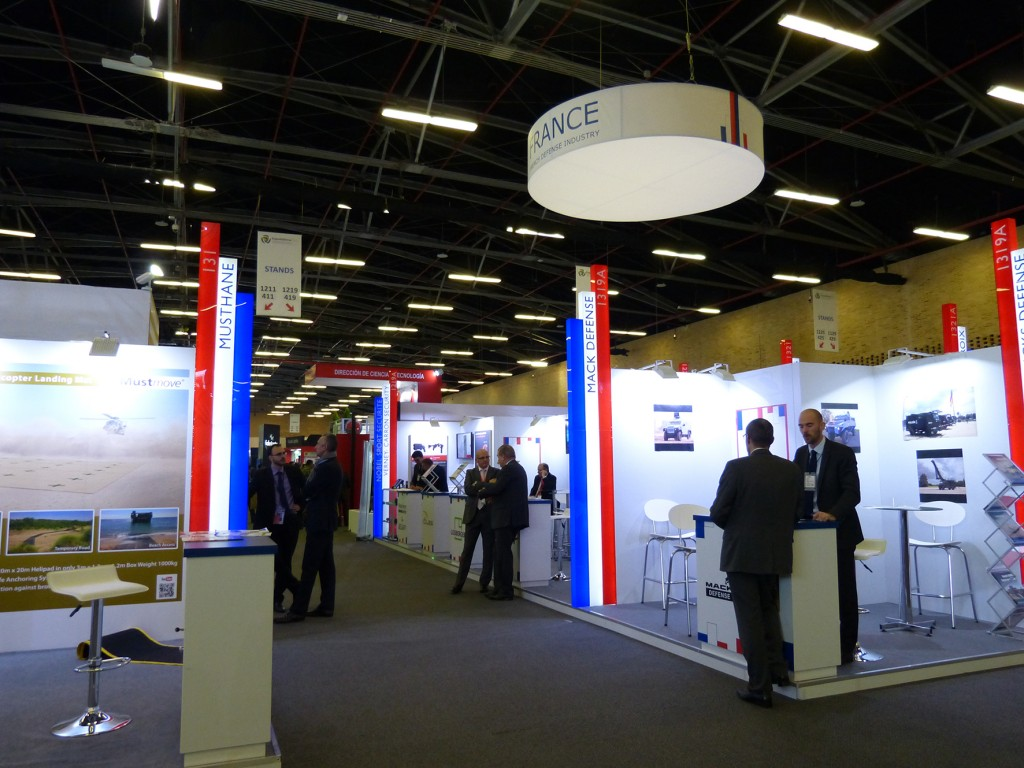 The French Pavilion at Expodefensa 2015. (David Oliver)