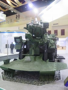 The CEASAR 155mm 52 calibre self-propelled howitzer (SPH) to boost the Malaysian Army's capability. (Joseph Roukoz)
