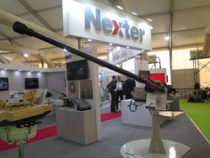 Nexter present at Defexpo 2016 a range of his product including the new canon 40CTA