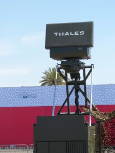 The Thales GroundMaster 200 radar was on display. (David Oliver)