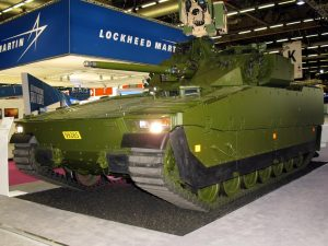 BAE Systems exhibited a Norwegian Army C2 CV90. (P. Valpolini)