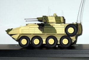 The model of the Terrex 3 unveiled by STK; the real vehicle was on its way to Australia. (P. Valpolini)