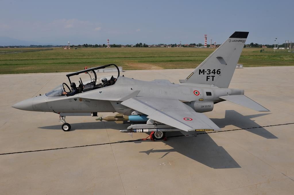 Leonardo is proposing its M-346 in the Fighter Trainer version, which can also be used in a variety of combat and support roles. (Leonardo)