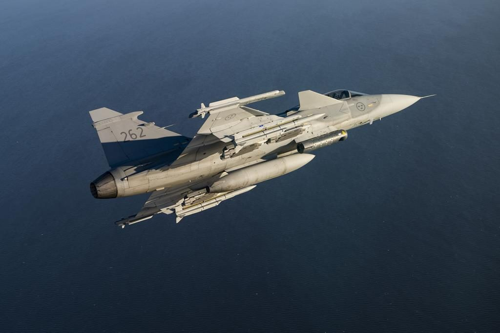 Meteor missiles on a Swedish Gripen; all six Gripen squadrons have now received the MBDA weapon system. (MBDA)