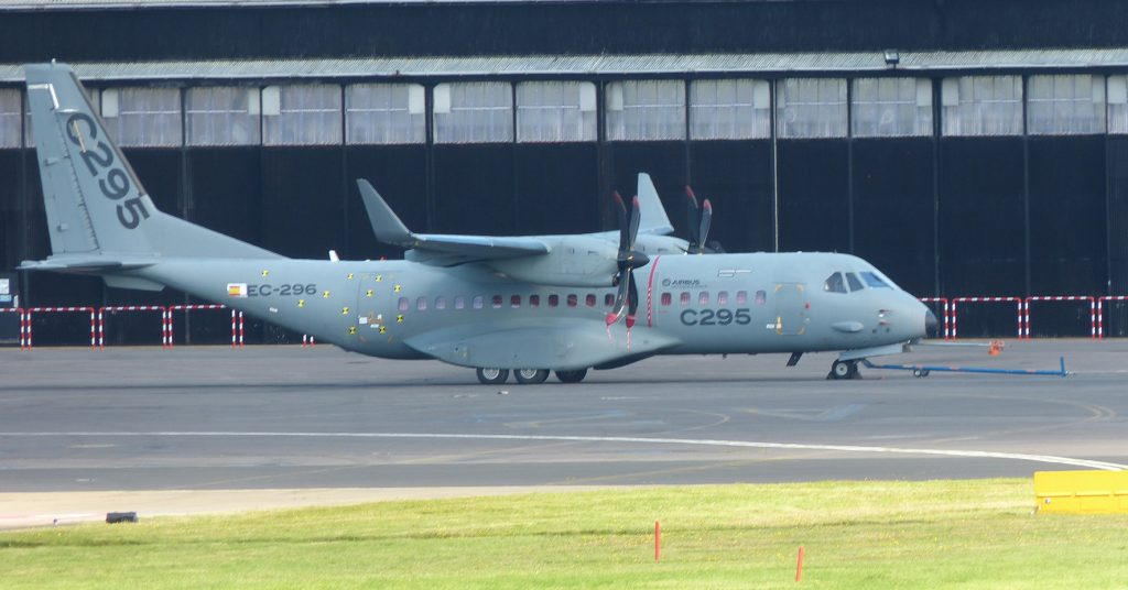 Airbus announced a new agreement to arm the C295W with Roketsan weapons and showed an air refueling variant. (David Oliver)