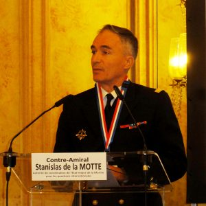 Rear-admiral Stanislas de la Motte, the new chief of International Affairs at the French Navy GHQ. © J.-M. Guhl