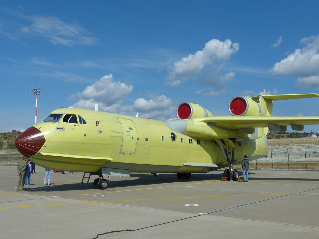 The latest Beriev Be-200ES soon to be delivered to the Russian Ministry of Emergency Situations (EMERCOM). (David Oliver)