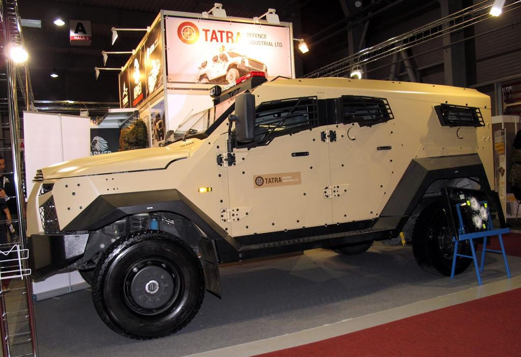 Tatra Defence Industrial's T-KAT light armoured vehicle might soon migrate from a Ford commercial chassis to a purpose made chassis by Tatra. © P. Valpolini