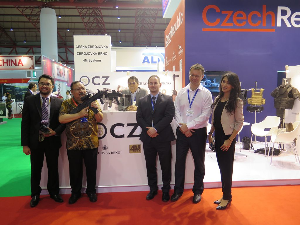 The CZ stand at Indo Defence.