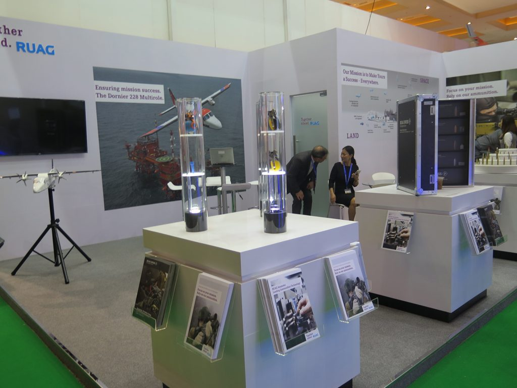 The Ruag booth.