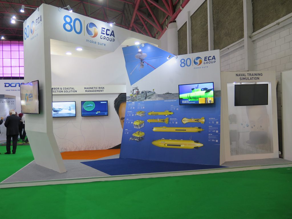 ECA and Verney Carron were under the French Pavilion at Indo Defence.