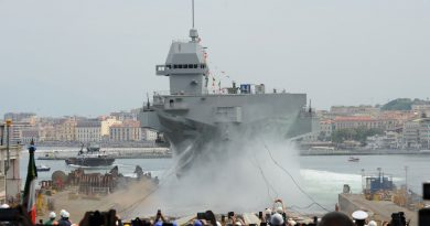 Fincantieri launches the LHD Trieste for the Italian Navy