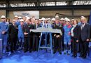 Steel cut ceremony for the first Naval Group's digital FDI frigate