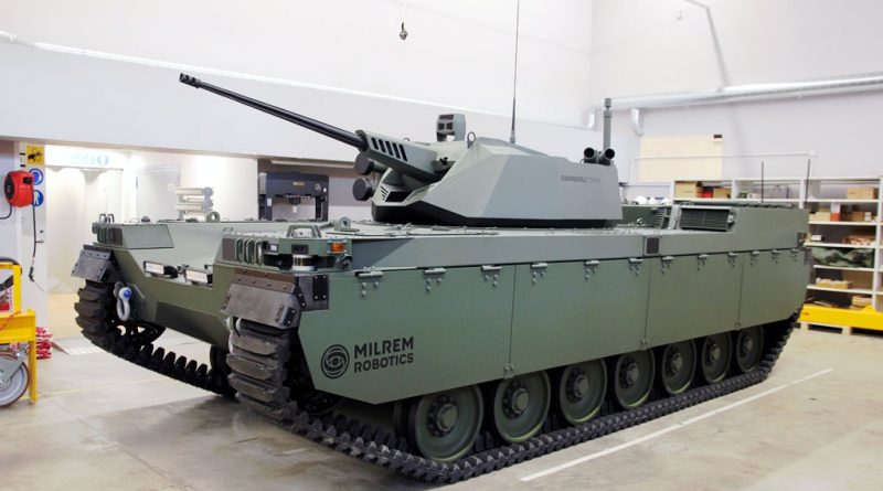 Milrem Robotics revealed Type-X RCV with John Cockerill CPWS II turret - EDR Magazine