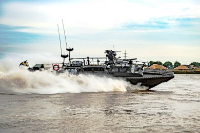 DSEI 2021: Saab's Next Generation Combat Boat on the Thames